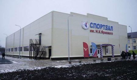 Фото 7. Строительство малобюджетного зала в Тимашевском районе